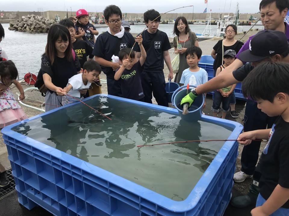 活イカ釣り ゆかい村海鮮どんぶりまつり2018