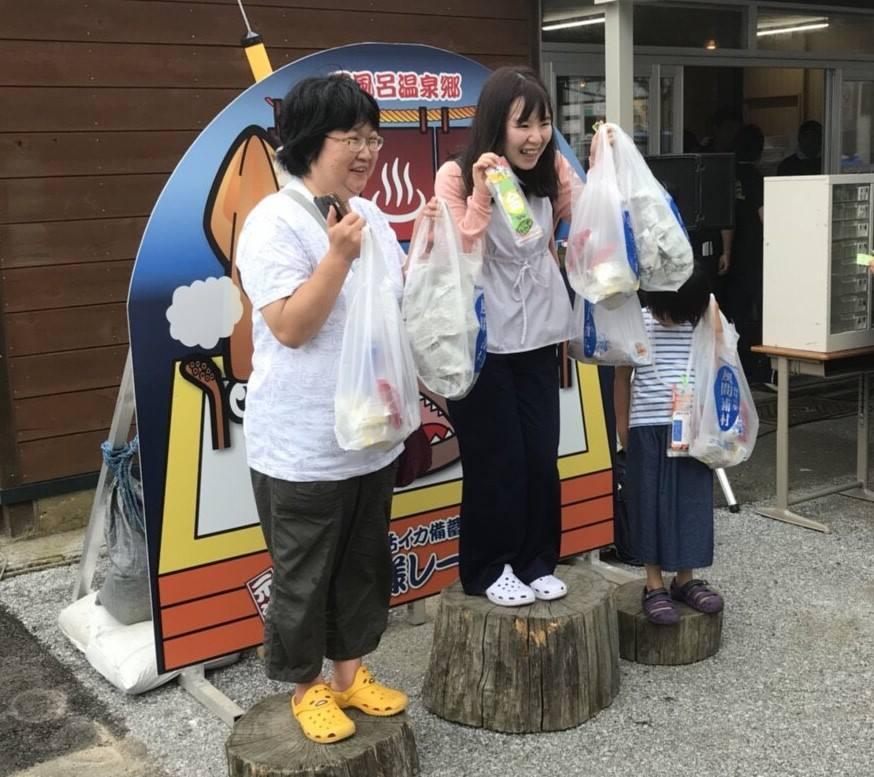 烏賊様レースの受賞者 ゆかい村海鮮どんぶりまつり2018