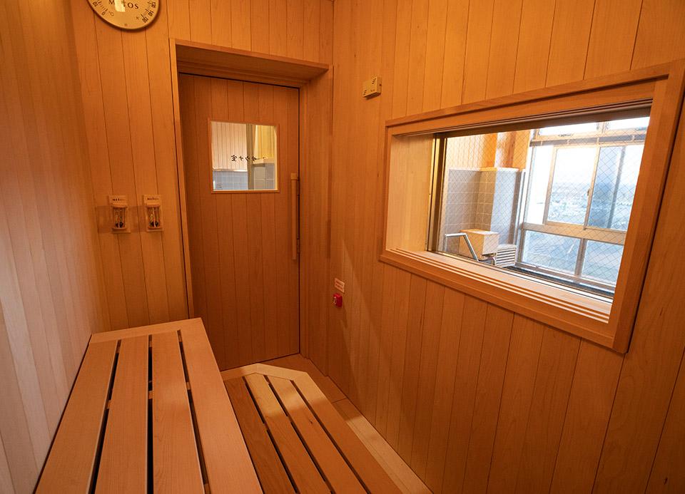 サウナ室(下風呂温泉「海峡の湯」)