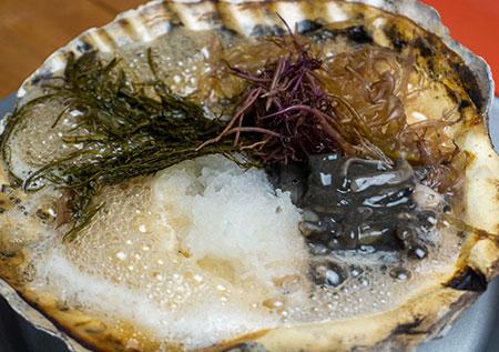 ふのり貝焼き(かやき)